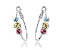 Austria Crystal Women Earring ( Buy 1 Get 3 ) Simple Hoop Earrings Jewelry Fashion Bijoux Accessories Gifts For Girl Jewellery(China)