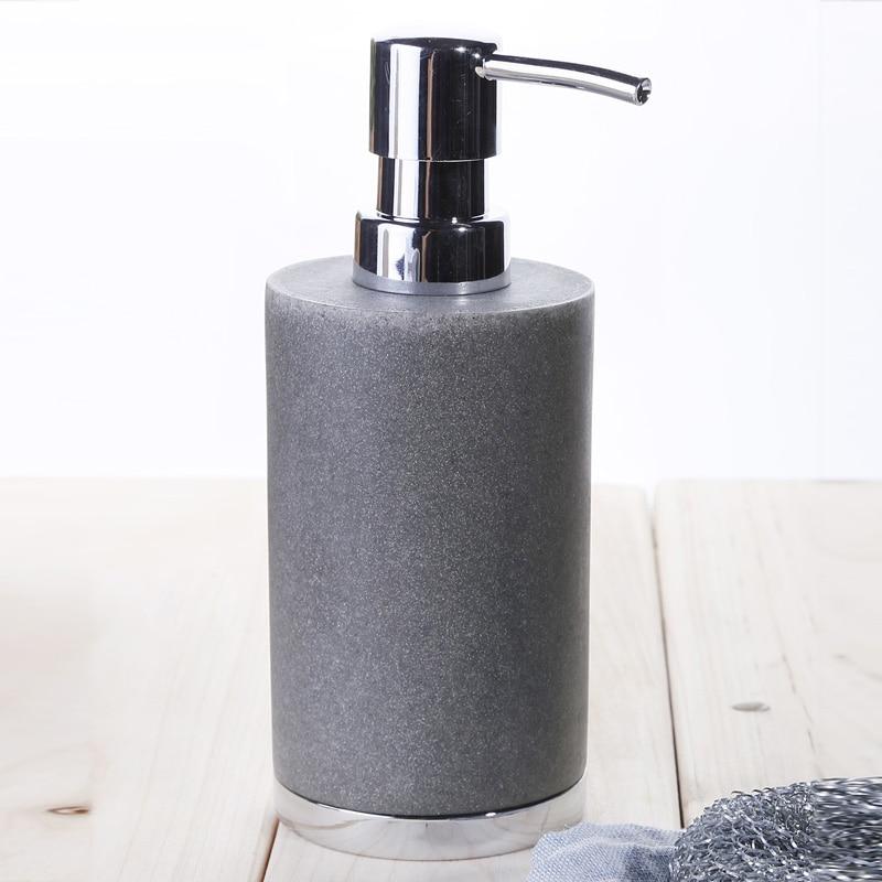 Free shipping Hand sanitizer bath bottle empty emulsion pump bottles bathroom hand sanitizer container black<br>
