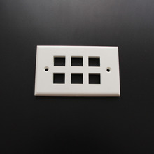 10 Piece 6 Port Faceplate 120 Type American Type Wall plate for RJ 11keystone jack RJ 45 Keystone Jack(China)