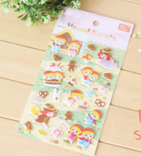 ZY DIY Cute Little Red Hat Baby Felt Sticker DIY Nonwoven Felt Fabric
