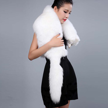 2017 Women High quality Natural Solid Whole Fox winter scarf Genuine imported Real Fox fur scarves female Fashion warm fur scarf