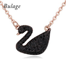 Classic Black Swan Necklaces&Pendants Crystals From Austria For Women Party Wedding Jewelry Maxi Collier Mother's Day Gift