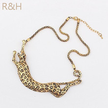 Ufavoirte 2017 New Design Brand necklace metal leopard necklace European and American style bronze necklace