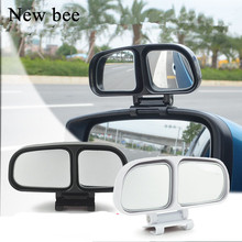 Newbee Universal Car Styling Side Rear View Mirror Adjustable Convex Wide Angle Blind Spot Mirror Motorcycle Truck SUV Parking(China)