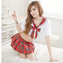 Hot sale sexy costumes school women japanese school uniform cosplay the part of pure schoolgirl costume temptation sexy(China)