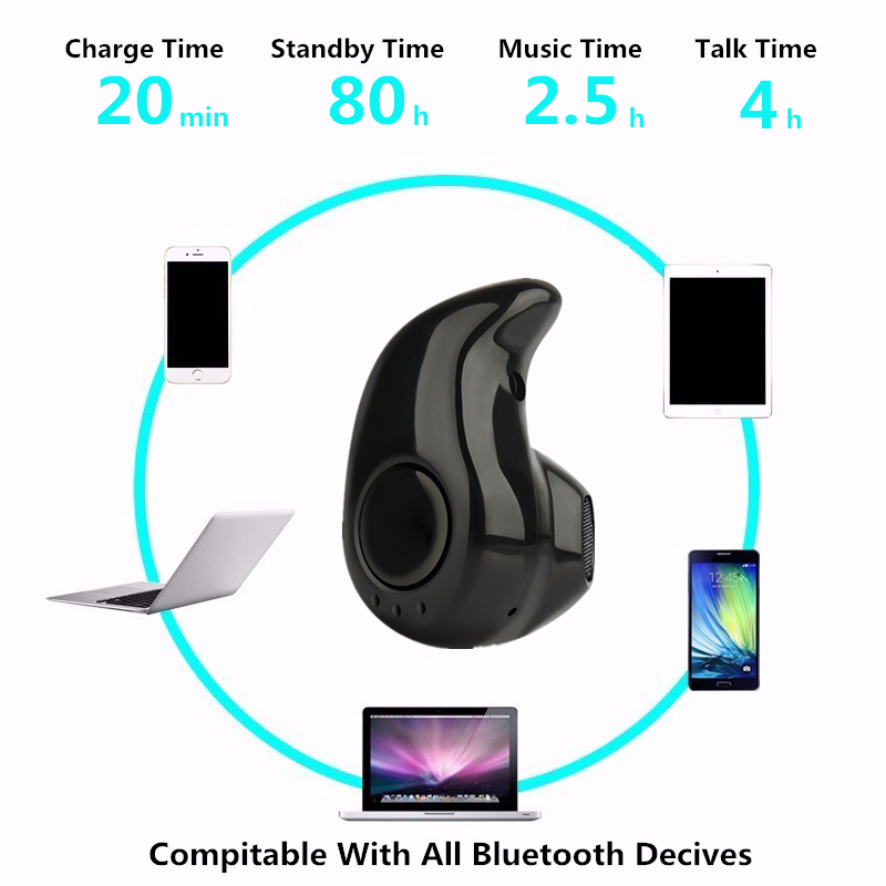Bluetooth Earphone Mini Wireless in ear Earpiece Cordless Hands free Headphone Blutooth Stereo Auriculares Earbuds Headset Phone