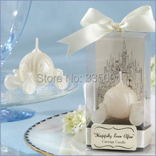 wedding favor candle--Happily Ever After Carriage Candle Favor baby shower party favour guest gift 100pcs/lot(China)