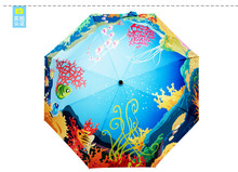 The undersea world style umbrella/Advanced printing and dyeing technology/The latest version of 2016/Limited sales(China)