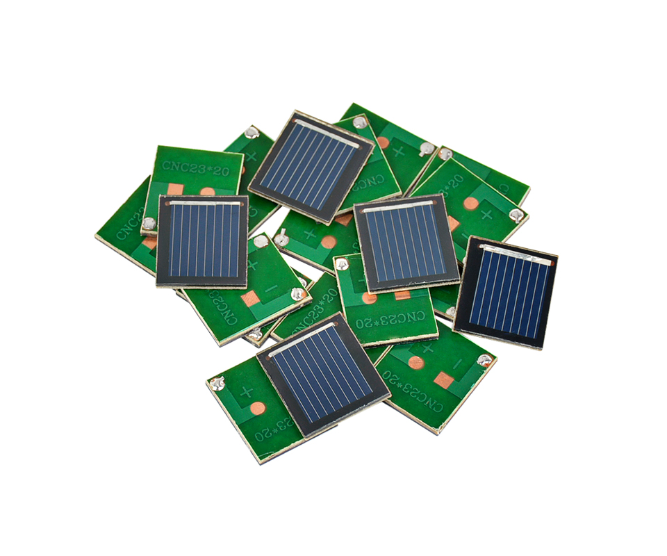 Aoshike Pcs Solar Panel China Painel Solar Polycrystalline Silicon Solar Cell DIY Technology Mini Material 0.5V 80MA 8