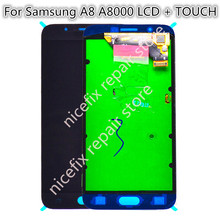 100% Tested AMOLED LCD For Samsung Galaxy A8 A800 A8000 A800F Phone LCDs Display Touch Screen Digitizer Sensor Replacement(China)