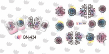 12 PACK/ LOT WATER DECAL NAIL ART NAIL STICKER FULL COVER DANDELION OWL ANCHOR BUTTERFLY HEAD SKULL BN433-444(China)
