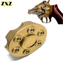 2017New Six bead revolver Edition metal Fidget spinner Pure copper rotary EDC hand spinner ADHD Stress spiner Fingertip gyro toy(China)
