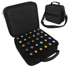 3 Color 42 Bottles Essential Oil Carrying Black Case Make Up Storage Bag For Traveling Sturdy Double Zipper Cosmetic Bag