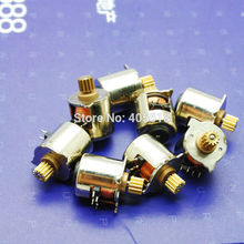 Free shipping NEW 10PCS 2 phase 4 wire DC Mini motor Micro stepper motor 10MM stepper motor with Copper Gear