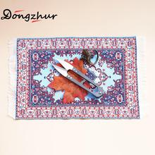Sky Blue Colourful Carpet Dollhouse Miniatures 1:12 Accessories 15*25cm Medium-sized Toy Carpet Dolls House Furniture ingbaby(China)