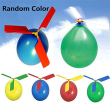 Balloon Airplane Helicopter Balloons For Kids Child Toy Gift Outdoor Flying Toy Weeding Birthday Party Decoration Random Color