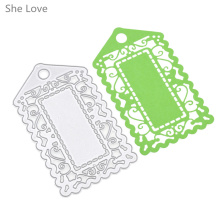 She Love Door Frame Metal Cutting Dies Scrapbooking Embossing Folder DIY Festival Decor Scrapbooking Template(China)