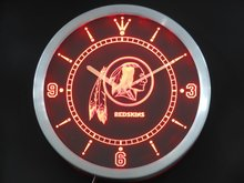 nc0520 Washington Redskins Neon Sign LED Wall Clock(China)