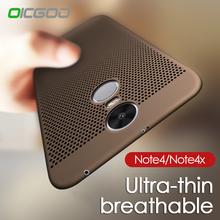 OICGOO Heat Dissipation Cover Case For Xiaomi Redmi Note 4x 4 Pro Phone Hard Back PC Full Cover For Xiaomi Redmi NOTE 4 4X Case(China)
