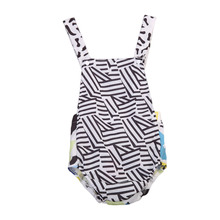 Dropshipping Newborn Kids Baby Girl Boy Clothes Sleeveless Romper Jumpsuit Sunsuit One-piece Summer Outfit Set 0-24M(China)