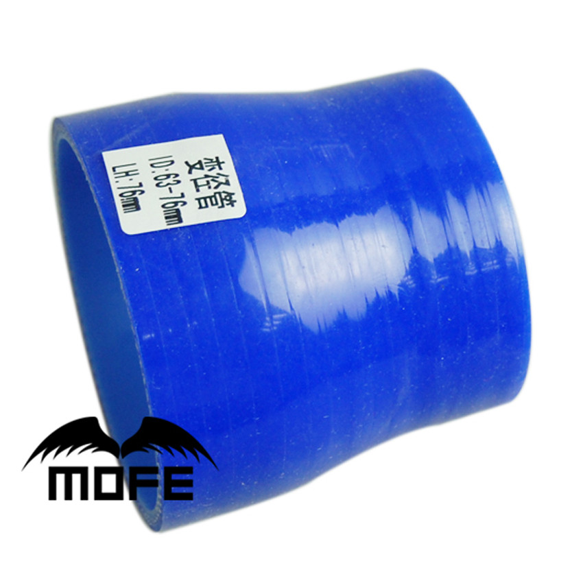 Bleu silicone 45 degré carburant Remplissage Tuyau 51 mm id