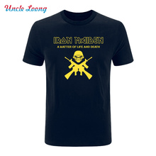 2017 Summer Fashion Iron Maiden t shirt short sleeve band t-shirt rock heavy metal music tee Harris tshirt Multi Color Optional