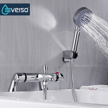 Buy EVERSO Bathroom Shower Set Antique Shower Mixer Bathtub Thermostatic Mixing Valve Shower Faucets Set for $69.76 in AliExpress store