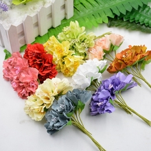 6pcs 4cm Silk Chrysanthemum Bride Artificial Flowers For Wedding Party Home Room Hats Shoes Decoration Daisy DIY Marriage Wreath