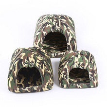 High Grade Camouflage Pet House Dog Cat Indoor Kennel Shelter Puppy Kitten Cosy Hut Bed Cushion