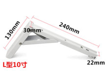 Heavy duty wall mounted decorative folding iron triangle shelf metal bracket, 240mm length x 130mm width x 30mm thickness