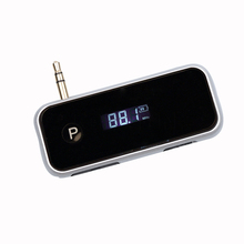 Car Kit FM Transmitter LCD 3.5mm 8 Pin In-car Wireless Handsfree With USB Charger MP3 Player Support USB SD Card + 3.5mm jack(China)