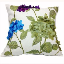 Square Cotton Decorative Cushion Cover for Sofa, 44cm*44cm,Embroidery Cushion Cover ,Throw Pillow Case Cover(China)