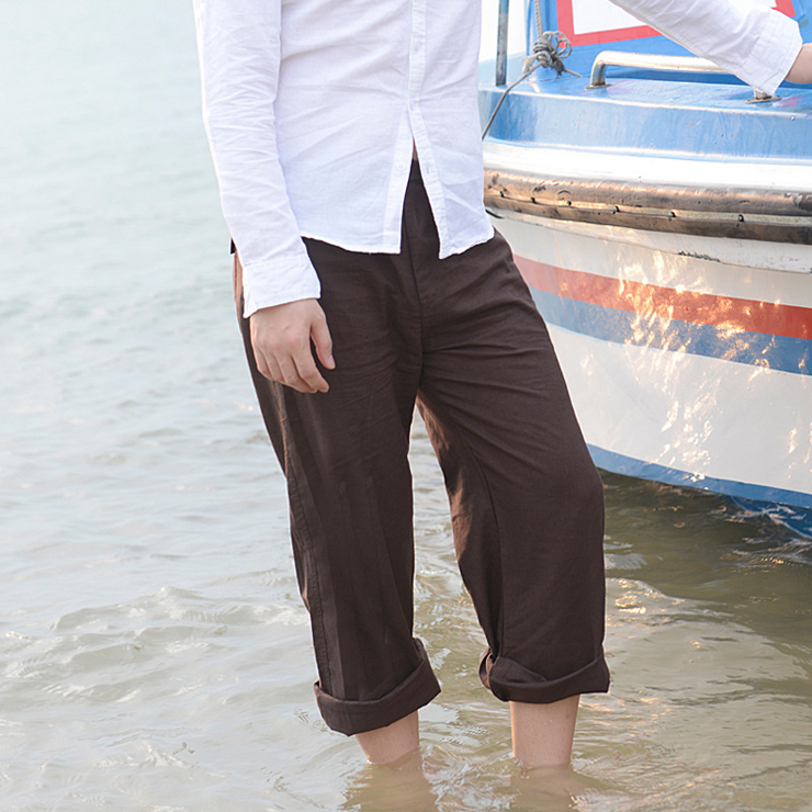 Men-s-Summer-Casual-Pants-Natural-Cotton-Linen-Trousers-White-Linen-Elastic-Waist-Straight-Pants (3)