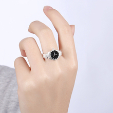 2017 New Silver Plated Round Rings Creative Imitate The Watch Personality Jewelry Rings Birthday Jewelry Gift Unisex 367839