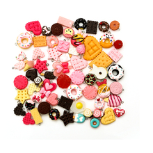 50pcs necklace charms necklace food pendant  for DIY earring decoration woman jewelry keychain