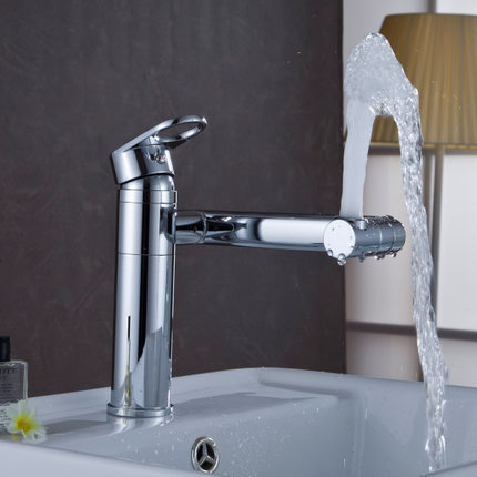 DMWD Solid brass single handle luxury bathroom faucet,good quality and modern sink mixer tap,rotatable tap<br>