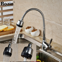 Deck Mount Swivel Spout Kitchen Sink Faucet Deck Mount Flexible Hose Mixer Tap Chrome Finish(China)