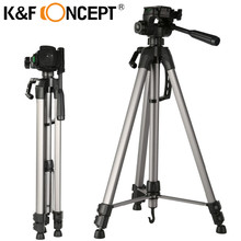 "K&F CONCEPT Camera Tripod Lightweight Travel Tripod with adjustable-height legs 66"" for Canon Nikon Sony Fujifilm DSLR Camera(China)"