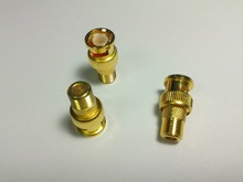 4pcs Gold plated F type Female to BNC Male RF Coax Connector Adapter CCTV RG59