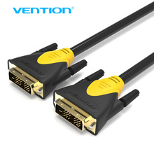 Vention DVI To DVI Cable 1m 1.5m 2m 3m 5m Gold Plated 1080P Male To Male DVI Cable For PC Monitor HDTV Projector Cable DVI-D(China)