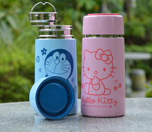 With Tea Lid School Kids Cartoon Hello Kitty Stainless Steel Children's 6~12Hours 230ML Travel Vacuum Flask Water Bottles