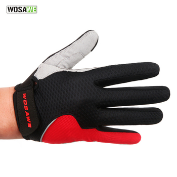 WOSAWE Summer Style Men's Cycling Gloves Women Full Finger Bike Bicycle MTB Gloves Touch Screen Gel Padded Lycra Mittens Glove