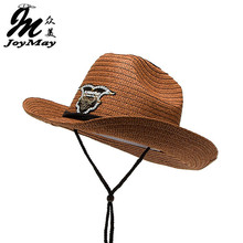 JOYAMY New Arrival Paper Cowboy Hat Jazz Formal Hat Summer Sun Hat Beach HATS for man C006