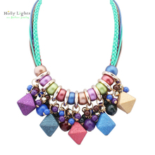 For Women boho choker necklace&pendants multicolor beads bohemia collar ethnic mujer big tribal maxi jewellery female BOHO 2017