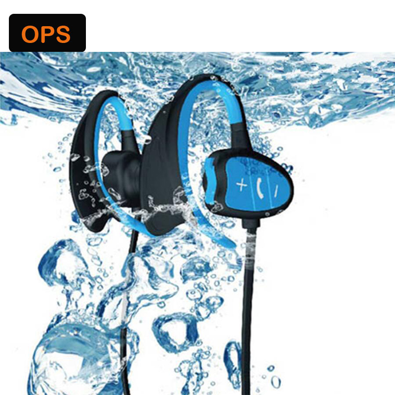 New IPX8 waterproof Bluetooth earphone HD noise headset for sport/driving/running/swimming