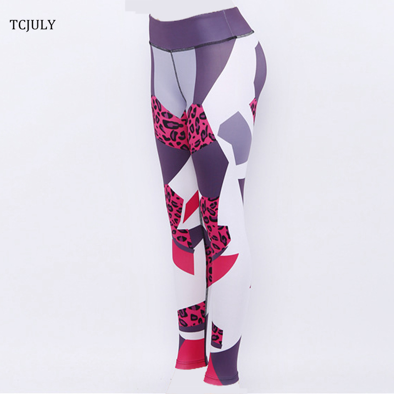 Leopard Patterns Leggings, Geometric Digital Printed Female Leggings, Elastic Push Up Leggings Pants 27