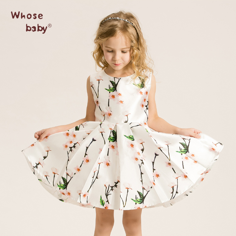 Summer Dress Kids Wedding Floral Princess Dresses Girls Clothes For 2017 Vest Flower Teenager  P Girls Children Clothing<br><br>Aliexpress