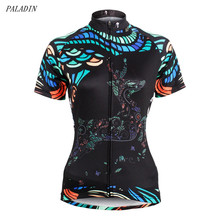 PALADIN Bike Cycling Jersey Top Outdoor Short Sleeve Shirt Women Black Clothing Bicycle Sportwear CC7111 - World Store store