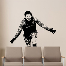Lionel Messi Wall Decal Barcelona Team Kids Nursery Home Decor Boys Room Handsome Football Player Sports Interior Decal