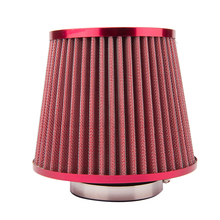 Universal Auto Vehicle Car Air Filter Cold Air Intake Filter Cleaner 76mm Dual Funnel Adapter Works 76mm YA027-SZ